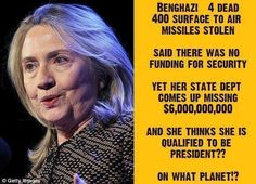 She thinks she's qualified to be President?!