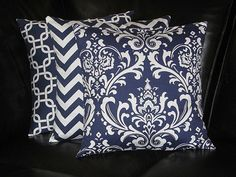 Pillows Decorative Pillows TRIO damask chevron chain by beckorama, $43.00