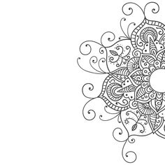 Mandala Art Print by charliefoxtrotsa - Stitching Projects Doodle Patterns, Henna Patterns, Zentangle Patterns, Easy Mandala Drawing, Simple Mandala, Mandala Coloring Pages, Colouring Pages, Henna Tattoo Designs, Flower Doodles