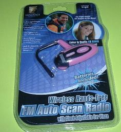FREE SHIPPING - WIRELESS RADIO HEADSET - PINK COLOR