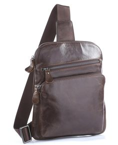 891802de67ba D Korean Tide Retro Casual Leather Chest Pack Bag genuine Leather messenger  bags Fashion crossbody bag