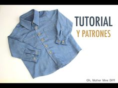 DIY Cómo hacer camisa jeans para niños (patrones gratis) - YouTube