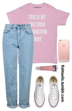 Casual Date / Kihyun / Monsta X by cxurt-ney on Polyvore featuring Topshop, Converse and Burt's Bees