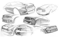 Mustang sketchs