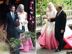 One of my fashion icons, Gwen Stefani, wore a custom pink ombre' Dior wedding dress designed by John Galliano.