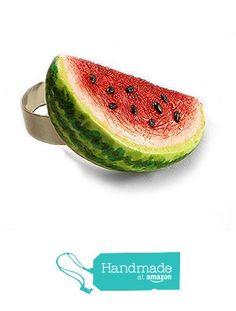Watermelon Ring ~ Food Jewelry from HugsKissesMINI… Watermelon, Fruit, Amazon, Rings, Handmade, Jewelry, Food, Amazons, Hand Made
