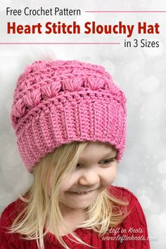 766d96b7e646c Crochet Love Bug Slouchy Hat - Free Pattern in Sizes Toddler through Adult