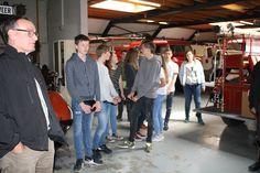 Studenten van het Assink Lyceum Neede op bezoek voor een studie project.