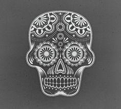Sugar Skull Illustration by Chris Spooner, via Behance