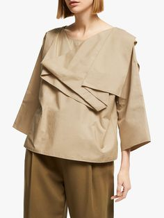 Buy Kin Drape Layered Top, Natural from our Women's Shirts & Tops range at John Lewis & Partners. Free Delivery on orders over Layered Tops, Fashion Forward, Latest Trends, Personal Style, Cotton Fabric, Layers, John Lewis, Collection, Natural