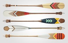 trekking norquaycos handmade paddles let skim style canoe Painted Oars, Oar Decor, Wooden Paddle, Make Do And Mend, Cottage Art, Woodworking Wood, Native Art, Water Crafts, Holiday Gift Guide