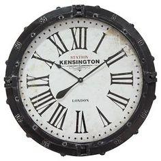 Infinity Instruments Kensington Station London Clock - Black
