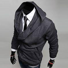 Men'S+Oblique+Zipper+Fleece+Hoodie+–+USD+$+32.39