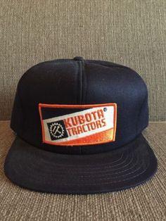 Vtg Kubota Tractors Trucker Style Snapback Hat Retro 80 s Farm Farming  Equipment d6f4528935b4
