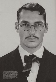 David Gandy, the Dandy with Moustache and Scruff. David Gandy, Vintage Hairstyles, Hairstyles Haircuts, Haircuts For Men, 1920s Mens Hairstyles, Short Haircuts, Cool Mustaches, Hairstyle Ideas, Street Style
