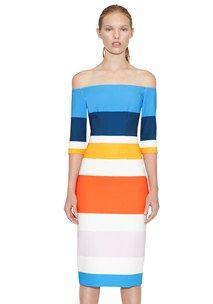 By Johnny Pre Order   Bermuda Stripe Cut Off Dress   Contemporary Australian Womenswear