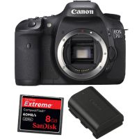 Canon EOS 7D DSLR Upgrade Bundle with 8GB CF Card and LP-E6 Battery