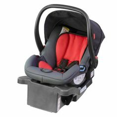 phil Alpha Infant Car Seat, Black/Red