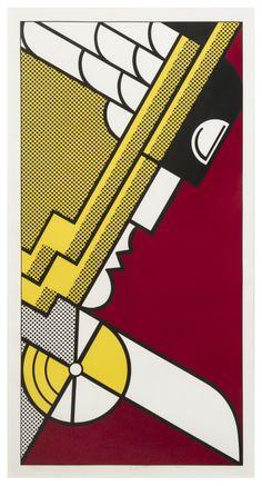 Roy Lichtenstein, (American, 1923-1997) | Salute to Aviation, 1968