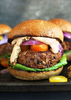 Finally! The word's best easy grillable Veggie Burgers | This flavorful vegetarian recipe via Minimalist Baker