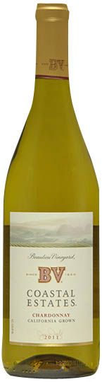 BV Coastal Estates Chardonnay is full-bodied and well balanced with aromas of caramel and apple, nicely oaked with rich, buttery flavor. At about $10 a bottle, it's a good value, too.