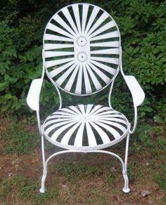 Garden Antiques for sale Vintage Outdoor Furniture, Metal Garden Furniture, Lawn Furniture, Garden Chairs, Patio Chairs, Outdoor Chairs, Outdoor Decor, Cast Iron Garden Bench, Antiques For Sale