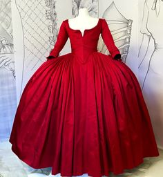 Dior inpired gown Outlander by Terry Dresbach constructed of 15 yards of Duchesse Satin