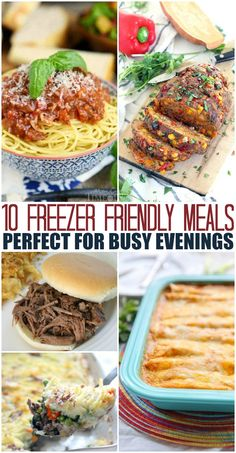 Freezer meals with quick recipes for dinner you can eat tonight or freeze for later. Casseroles, barbeque, pasta recipes and more. Great organization tips for freezing meals. Healthy Freezable Meals, Freezable Casseroles, Freezer Cooking, Freezer Recipes, Meal Recipes, Healthy Recipes, Quick Recipes, Delicious Recipes, Pasta Recipes