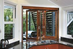 Divine bathroom kitchen laundry bi fold windows for External laundry doors