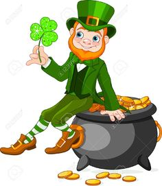 17925247-Cute-cartoon-Leprechaun-sitting-on-pot-of-gold-Stock-Vector-leprechaun-patrick-st.jpg (1130×1300)