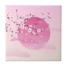 Cherry Blossom Drawing, Anime Cherry Blossom, Cherry Blossom Wallpaper, Cherry Blossom Decor, Sakura Painting, Japan Painting, Pink Painting, Japanese Blossom, Japanese Flowers