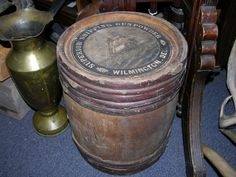 Wooden Gunpowder Keg from Superior Shipping Gunpowder | Black Bass Antiques | Bolton Landing, New York | Adirondacks