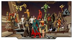 Justice League by rodavlasalvador - Visit to grab an amazing super hero shirt now on sale!