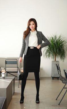 Korean Women`s Fashion Shopping Mall, Styleonme. Classy Women Quotes, Pencil Skirt Black, Womens Fashion For Work, Office Fashion, Korean Women, Asian Fashion, Types Of Fashion Styles, Fashion Brands, Autumn Fashion
