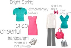 """""""Bright Spring - an excercise"""" by silverwild on Polyvore"""