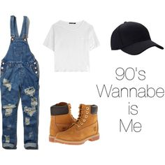 90s hip hop fashion by marleyvincent-ufm on Polyvore featuring rag & bone, Abercrombie & Fitch and Timberland