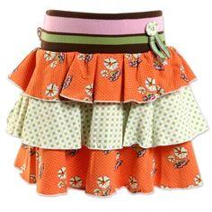 4FunkyFlavours | Rok Flowers Bloom | Oranje - Babykleding en kinderkleding op Leuk Gekleed! | Webshop met merkkleding voor jongens en meisjes.