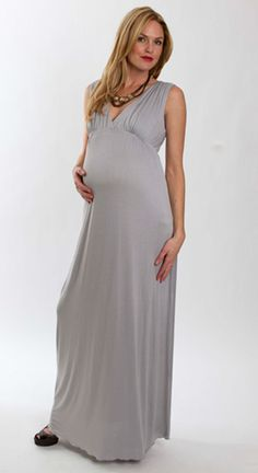 d9b1da056f Long maternity dresses for special occasions Grey Maternity Dresses