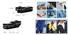 FLOUREON® Mini DV DVR Sports Helmet Bike Motorbike Camera Video Audio Recorder