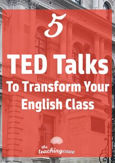 Which TED Talks are the best for your English class? How can you use TED Talks to create engaging, inspiring lessons and get students to speak up in class? Dont miss this post on 5 of my favourite TED talks. Join the FREE printables library at the end of Education English, Teaching English, English Teachers, Teaching Spanish, Art Education, English For Students, Education Degree, Education College, Physical Education