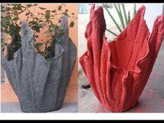 Cement Design, Cement Art, Concrete Crafts, Concrete Garden, Concrete Planters, Concrete Molds, Concrete Countertops, Bonsai Fruit Tree, Cement Flower Pots