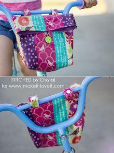 Sew a Handlebar Bag for your Kid's Bike!   Make It and Love It   Bloglovin'