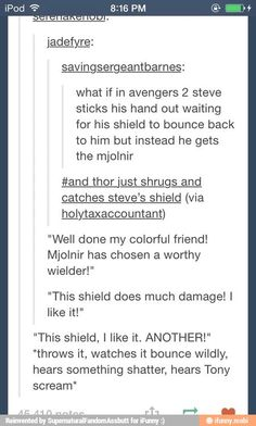 of Marvel and DC memes - images/slides added under category of Animation & Comic Marvel Funny, Marvel Memes, Marvel Dc Comics, Funny Avengers, Avengers Quotes, Avengers Imagines, Fandoms, Johnlock, Movies