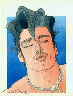 Fashion illustration by Antonio Lopez_MikeHaire1(head kissing)