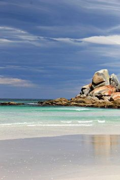 Spectacular Hiking in the Bay of Fires in Tasmania http://www.compassandfork.com/spectacular-hiking-bay-of-fires-in-tasmania/ - white sand beaches, crystal clear water! 3 days of walking