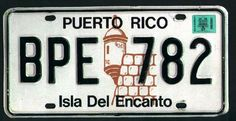 PR 87 with sticker Car License Plates, Licence Plates, Puerto Rico, Vintage Signs, Papi, Stickers, Dodge, Truck, Collections