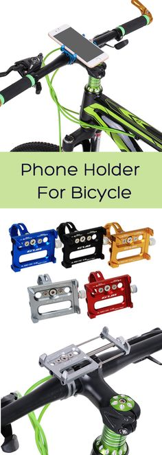 US$16.66 + Free shipping. Aluminum Alloy Phone Holder, Bicycle Phone Holder, Bike Phone Holder, Handbar Phone Holder, Mounts for iPhone & Sumsung. Color: Blue,Red,Gold,Black,Titanium. Compatible with 3.5 inch -6.2 inch mobile phone.