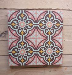Cement Tiles, Bespoke, Frame, Home Decor, Bright Colours, Good Mood, Taylormade, Picture Frame, Decoration Home