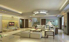 Villa Living Room Minimalist Ceiling Download D House Plaster Decorations Home Design .