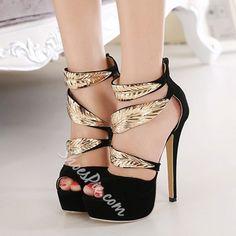 c1bdd82e038 Black Sequin Platform Stiletto Heels High Heels Stilettos